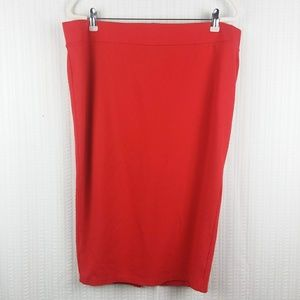 Torrid | Classic Red Stretchy Pencil Skirt Size 2x